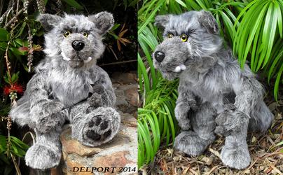 Silver Werewolf plush