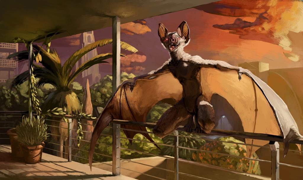 [by plaguedaemon] Hotel balcony, sunrise