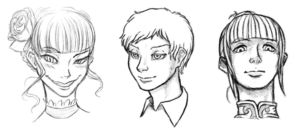Beatrice, Kyrie and Eva
