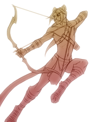 Dehklen the Archer  by Brindle  (sketch)