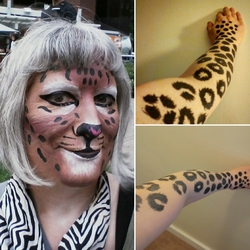 Realistic leopard makeup, first try