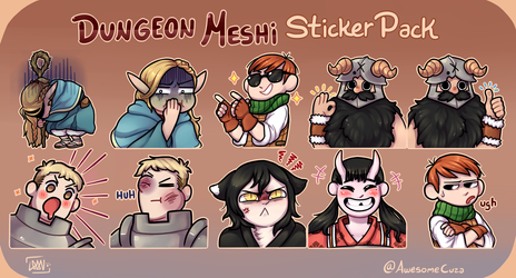 DUNGEON MESHI stickers pack