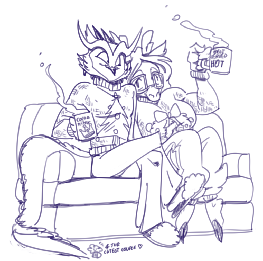 Choco and Couch Christmas