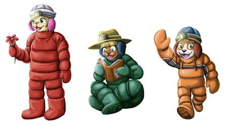 [commission] LaVina, Noodle and Elliot