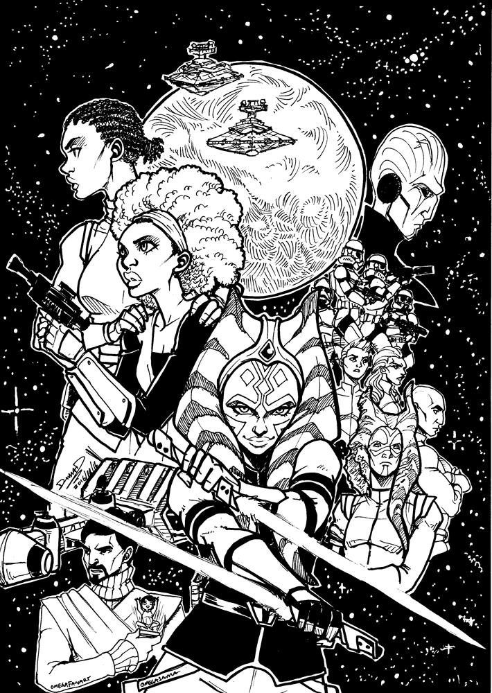 Most recent image: Ahsoka book fan cover