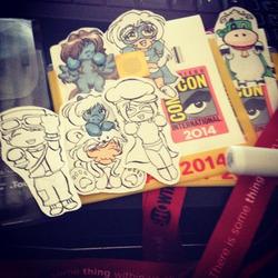 Random: SDCC2014 Badge Art