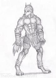 Wolf Man drawing