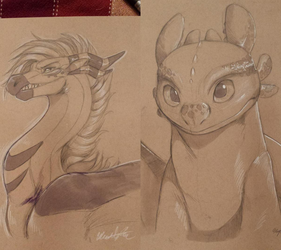 Trad Sketches: Toothless and Tartiidrake