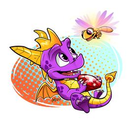 Chibi Spyro and Sparx