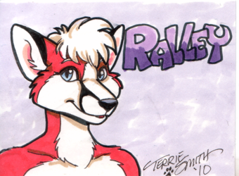 Ralley Badge by Terrie Smith