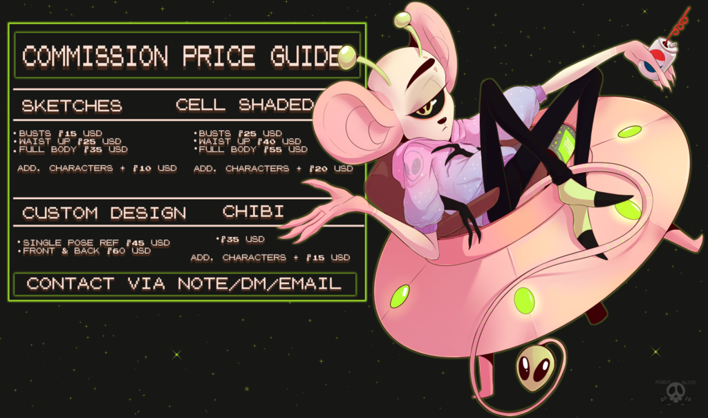 2019 Commission Price Guide