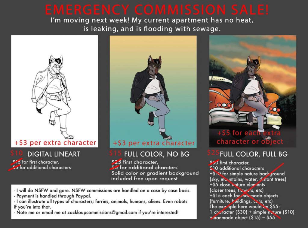 EMERGENCY COMMISSIONS - HUGE SALE!