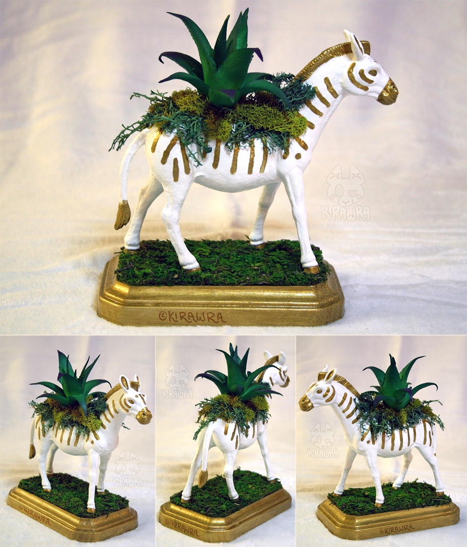Zebra Planter Centerpiece