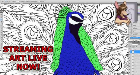 ART STREAM Flat Colors Start for Video Game Monster: Peacock