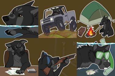 Wolf J Telegram Sticker Set #7