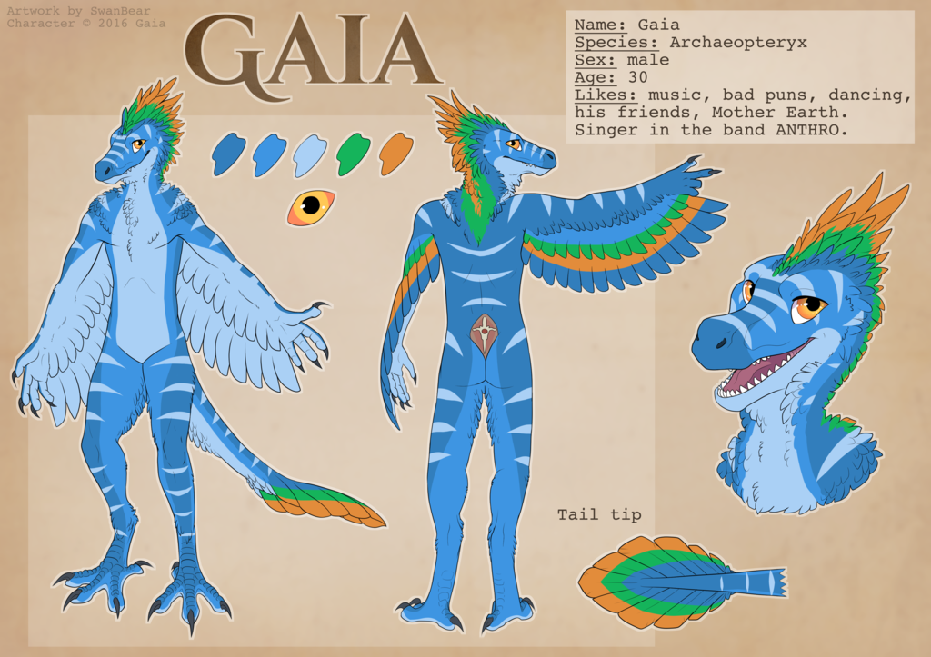 Most recent image: Gaia ref sheet 2.0 by Swanbear