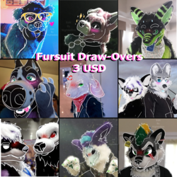 Fursuit Draw-Over Commissions [Open]
