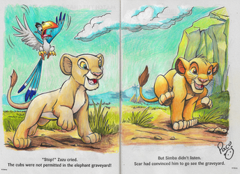 Coloring book with Pro Colored Pencils (The Lion King)