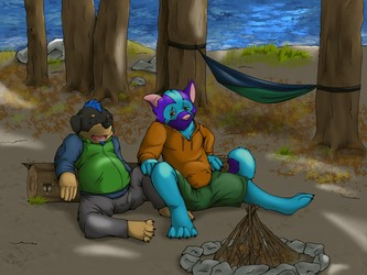 Commission-Camping at the Lake