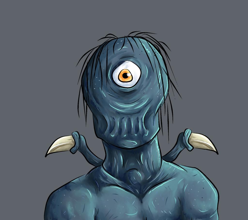 Featured image: Blue goop man