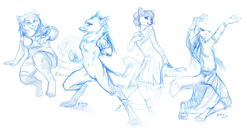 blue sketches - batch 1
