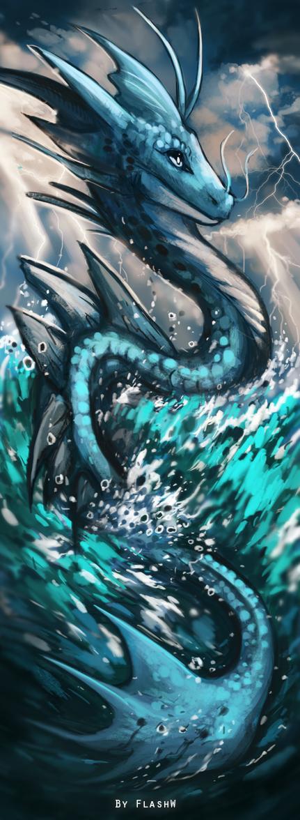 Water dragon bookmark