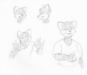 Peter practice sketches