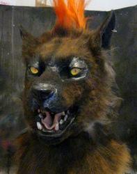 punkrock werewolf head