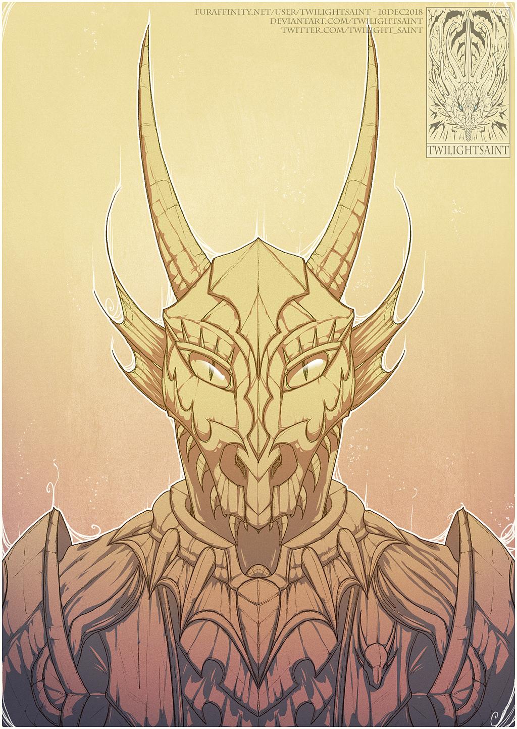 Sketch Comish - Dragon Lord