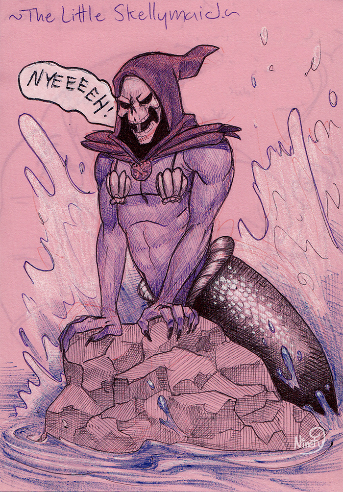 The Little Skellymaid ---Skeletor Princesses