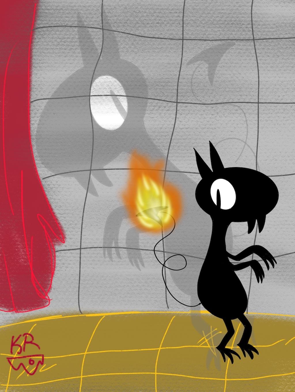 Luci the Demon Doodle