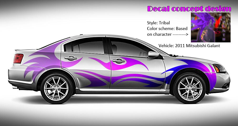Vector Art Car Decal Concept Weasyl