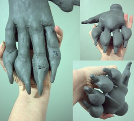 Canine handpaw sculpt