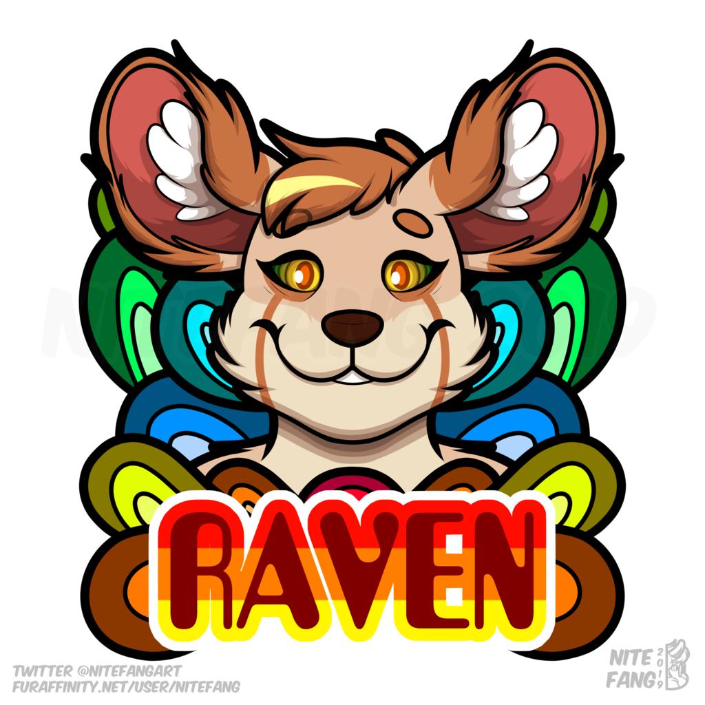 {SG} Raven Psychedelic Badge