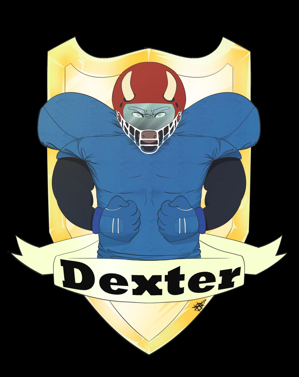 Football emblem dexterskunk