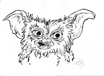 Ink October Day 12# Gizmo!
