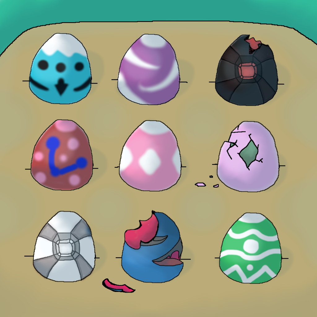 Most recent image: 9 Random eggs-Open 7/9