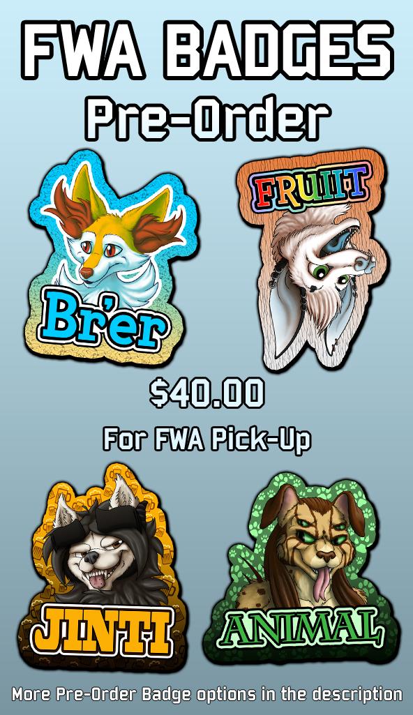 FWA Pre-Order Bust Badges