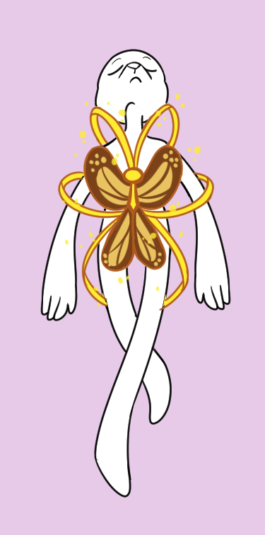 Magical Girl Butterfly Transformation YCH