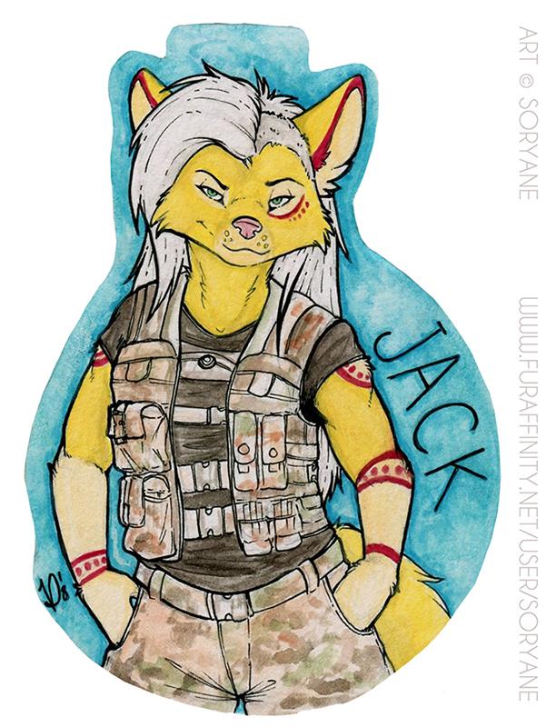 Jack - Watercolour Badge