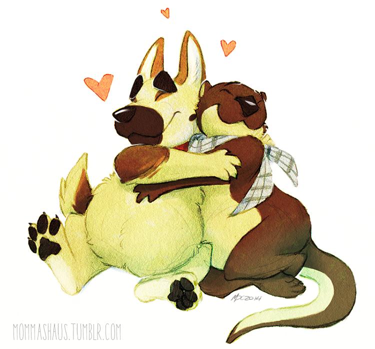 Duke and Mozee Fatty Valentine