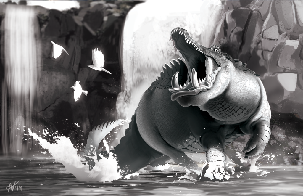 Zuberi: Maw of the River (value study)