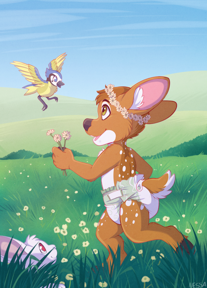 Flower Field - Commission