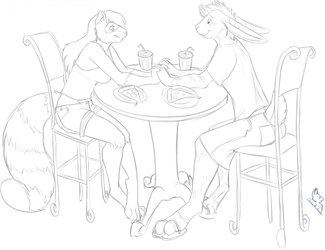Lunch With a Friend (bluwolf0 Commission)