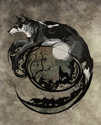Tracery of wolf life