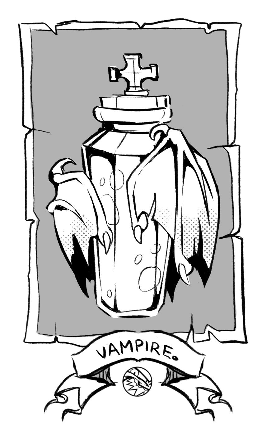 HALLOWEEN   Vampire Vial   FEARDAKEZ