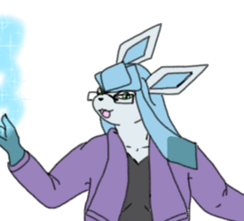 Colored Sketch: Glaceon