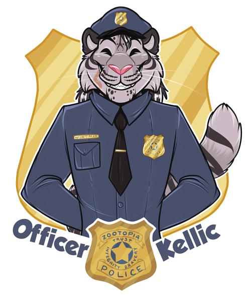 [commission] Zootopia Badge: Kellic