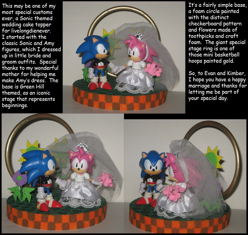 Sonic Wedding Cake Topper