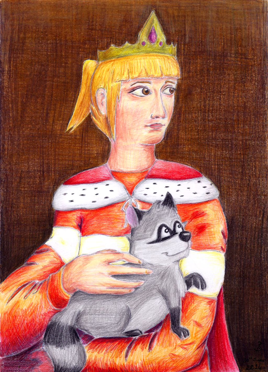 The Empress With The Raccoon